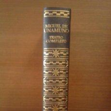 Libros de segunda mano: MIGUEL DE UNAMUNO - TEATRO COMPLETO - AGUILAR 1973. Lote 287182813