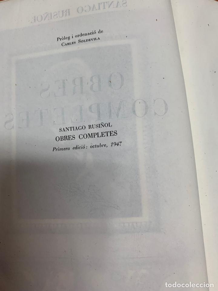 Libros de segunda mano: OBRES COMPLETES. SANTIAGO RUSIÑOL. BIBLIOTECA PERENNE. BARCELONA 1947. - Foto 12 - 287908228