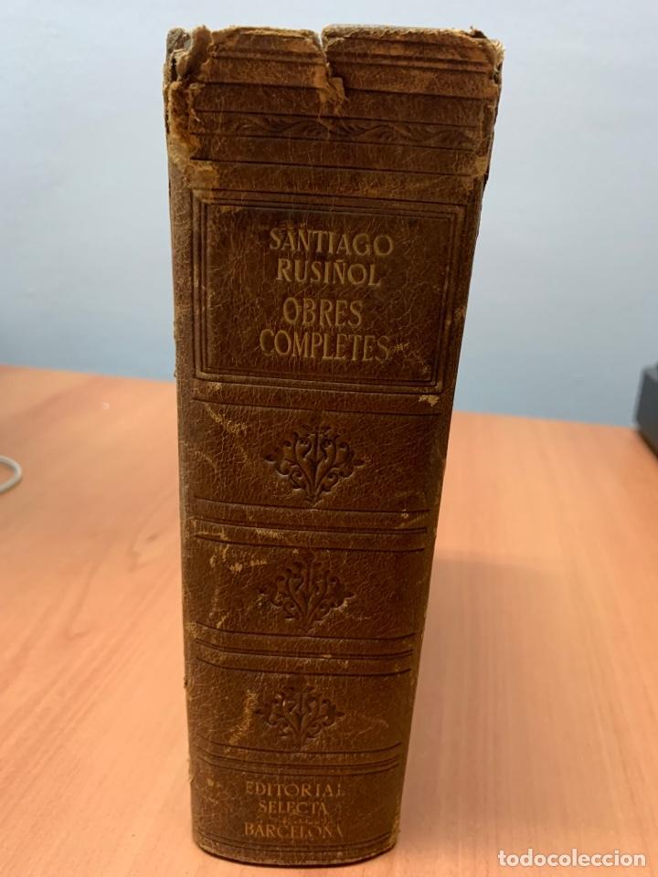 OBRES COMPLETES. SANTIAGO RUSIÑOL. BIBLIOTECA PERENNE. BARCELONA 1947. (Libros de Segunda Mano (posteriores a 1936) - Literatura - Teatro)
