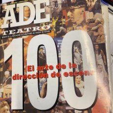 Libros de segunda mano: VV.AA. - ADE. TEATRO Nº 100: EL ARTE DE LA DIRECCION DE ESCENA. + CD-ROM.. Lote 288060433