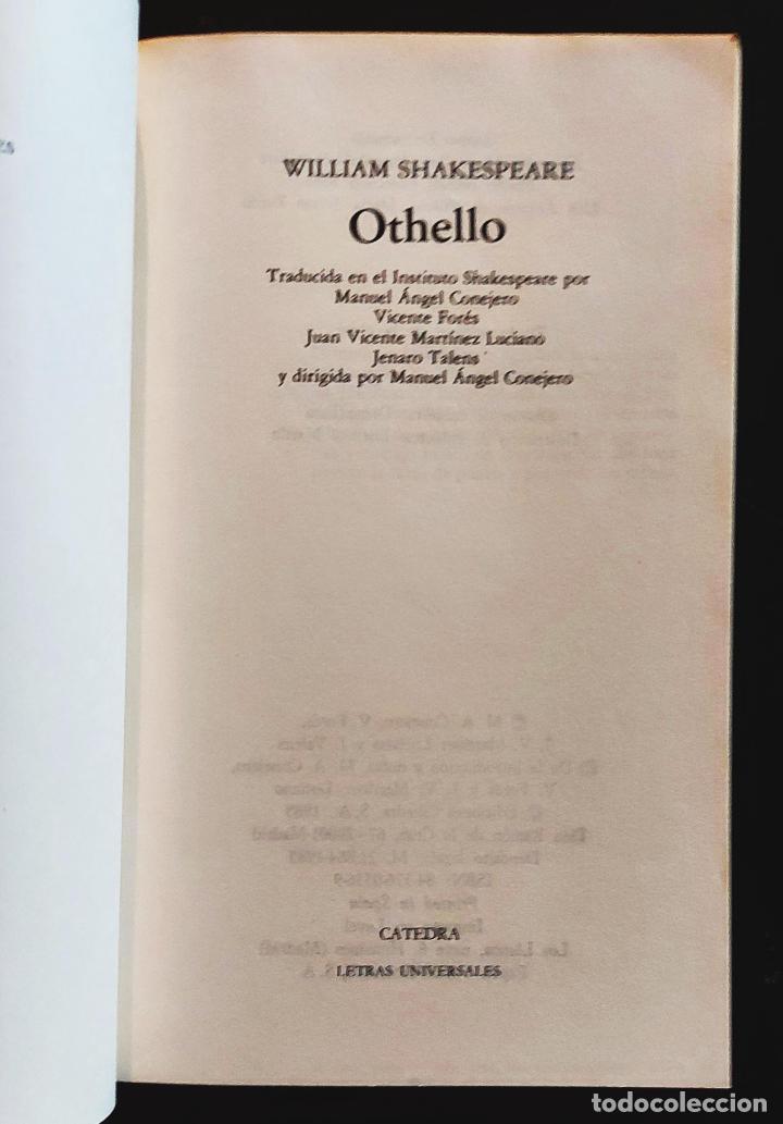 Libros de segunda mano: Othello   Shakespeare, William   Ediciones Cátedra 1985 - Foto 3 - 288111988