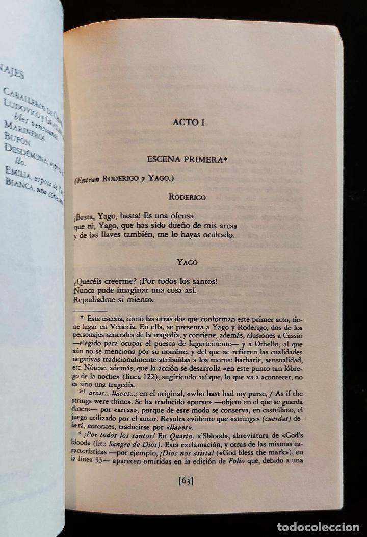 Libros de segunda mano: Othello   Shakespeare, William   Ediciones Cátedra 1985 - Foto 4 - 288111988