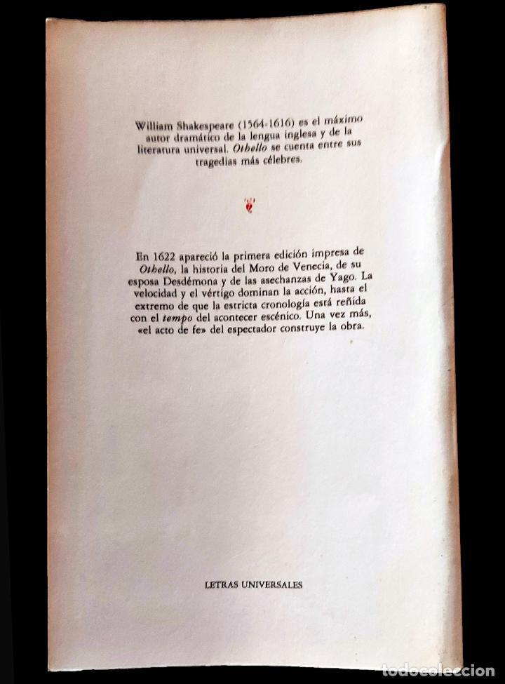 Libros de segunda mano: Othello   Shakespeare, William   Ediciones Cátedra 1985 - Foto 5 - 288111988