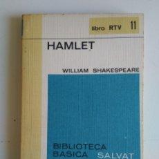 Libros de segunda mano: HAMLET/WILLIAM SHAKESPEARE. Lote 288114543