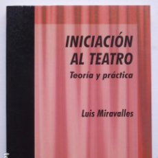 Libros de segunda mano: INICIACIÓN AL TEATRO: TEORÍA Y PRÁCTICA. LUIS MIRAVALLES.. Lote 288561678
