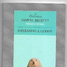 Libros de segunda mano: SAMUEL BECKETT . ESPERANDO A GODOT . TUSQUETS. Lote 288571308