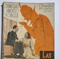 Libros de segunda mano: LAS CINCO ADVERTENCIAS DE SATANAS. ENRIQUE JARDIEL PONCELA. ED. FARSA. NUM, 440. MADRID, 1936.. Lote 288627823