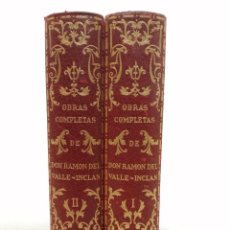 Libros de segunda mano: OBRAS COMPLETAS VALLE INCLAN, TIRADA LIMITADA NUMERADA, 2697/3000, AÑO 1950, (2 TOMOS). Lote 289553353