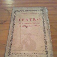 Libros de segunda mano: TEATRO LA COMEDIA NUEVA EL SI DE LAS NIÑAS.LEANDRO F. DE MORATIN.CO.IBEROAMERICANA DE PUBLICACIONES.. Lote 289800068