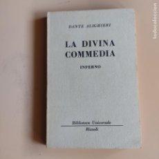 Libros de segunda mano: LA DIVINA COMEDIA. INFERNO. DANTE ALIGHIERI. RIZZOLI/EDITORE. 1949. PAGS. 188.. Lote 295807188