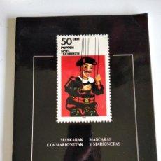 Libros de segunda mano: MASKARAK ETA MARIONETAK / MASCARAS Y MARIONETAS. Lote 295815723