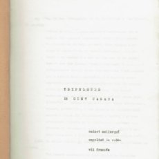 Libros de segunda mano: TRIFULGUES DE GENT CASADA (MENORCA 11.2). Lote 295829713