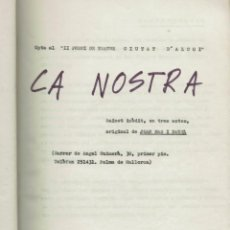 Libros de segunda mano: CA NOSTRA, DE JOAN MAS I BAUZÀ. 1971-1972 (MENORCA 11.2). Lote 295830173