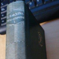 Libros de segunda mano: OBRAS COMPLETAS DE EDUARDO MARQUINA - TOMO I - AGUILAR - MADRID 1944. MUY BUEN ESTADO CORTES PINTADO. Lote 297094653