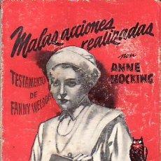 Libros de segunda mano: MALAS ACCIONES REALIZADAS.Nº60 MAS LIBROS Y COLECCIONISMO EN RASTRILLOPORTOBELLO. Lote 24676905
