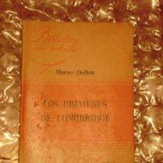 Libros de segunda mano: LOS CRIMENES DE LONGBRIDGE DEL AÑO 1950. Lote 26915111