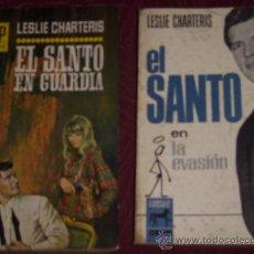 Libros de segunda mano: LOTE DE DOS NOVELAS DE EL SANTO POR LESLIE CHARTERIS EN BARCELONA 1965 (VER DESCRIPCIONES). Lote 240178935