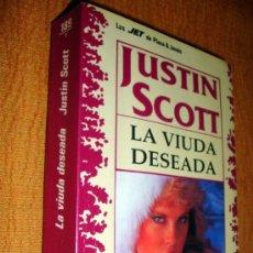 Libros de segunda mano: LA VIUDA DESEADA POR JUSTIN SCOTT-LOS JET DE PLAZA & JANÉS 1992. Lote 26965975
