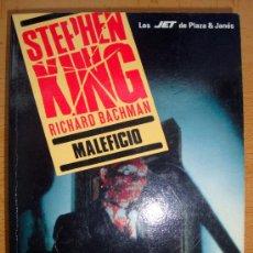 Libros de segunda mano: LIBRO DE STEPHEN KING MALEFICIO - RICHARD BACHMAN P&J 1992. Lote 27532744
