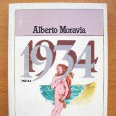 Libros de segunda mano: LIBRO DE ALBERTO MORAVIA 1934 PLAZA Y JANÈS LITERARIA1982 1ª EDICIÓN, NUEVO . Lote 27718108