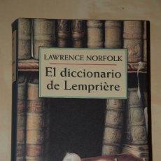 Libros de segunda mano: EL DICCIONARIO DE LEMPRIERE. LAWRENCE NORFOLK. CIRCULO DE LECTORES. Lote 29311061