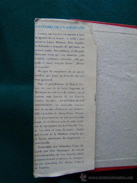 anatomia de un asesinato - robert traver - luis - Comprar Libros de ...
