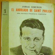 Libros de segunda mano: REVISTA LITERARIA- NOVELAS Y CUENTOS- 23 ABRIL 1944-JORGE SIMENON- EL AHORCADO DE SAINT PHOLIEN.. Lote 33881428