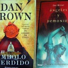 Libros de segunda mano: EL SÍMBOLO PERDIDO-ÁNGELES Y DEMONIOS-DAN BROWN- PLANETA 2009-UMBRIEL 2004. Lote 34364323