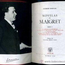 Libros de segunda mano: GEORGES SIMENON : NOVELAS DE MAIGRET I (AGUILAR, 1964). Lote 50255013