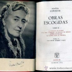 Libros de segunda mano: AGATHA CHRISTIE : OBRAS ESCOGIDAS II (AGUILAR). Lote 36613295
