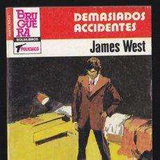 Libros de segunda mano: PUNTO ROJO 1159 DEMASIADOS ACCIDENTES, JAMES WEST. BOLSILIBRO BRUGUERA POLICIACO DESILO BOLSILIBROS. Lote 38206519