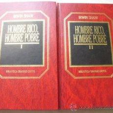 Libros de segunda mano: HOMBRE RICO, HOMBRE POBRE (2 VOLÚMENES) SHAW, IRWIN. 1983. Lote 39077599
