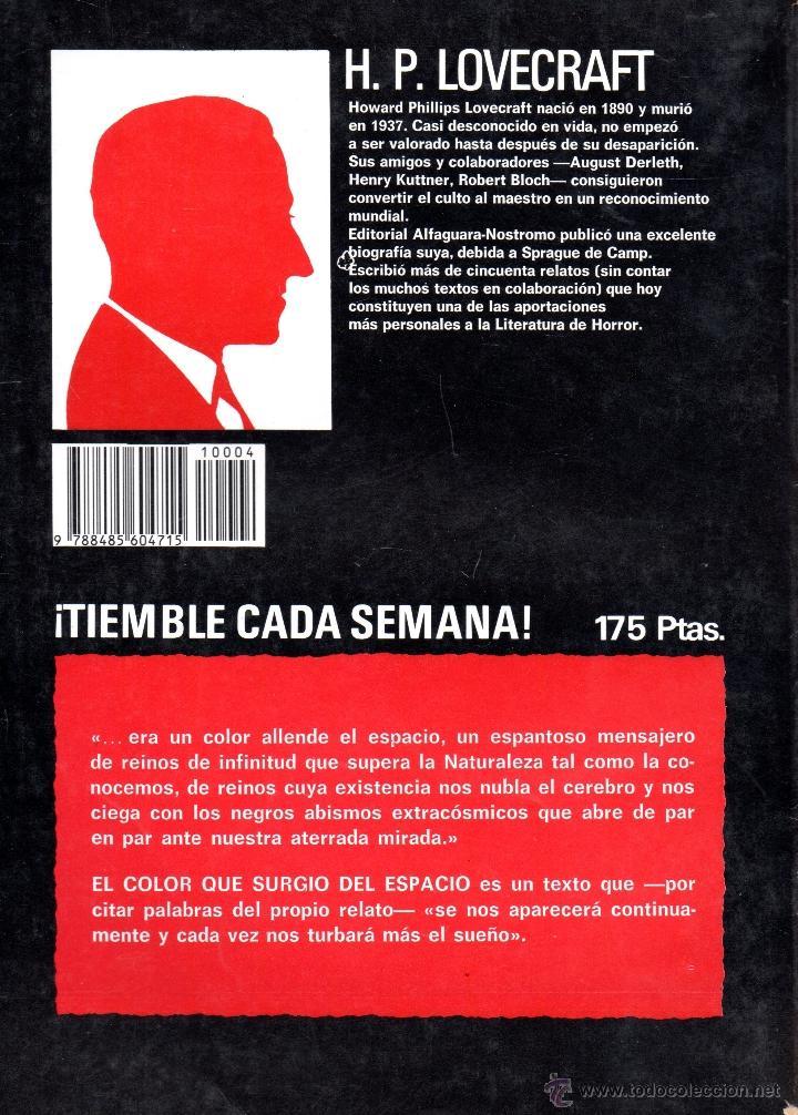 libro biblioteca del terror nº4 el color que s - Comprar Libros de ...