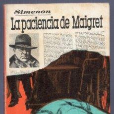 Libros de segunda mano: LA PACIENCIA DE MAIGRET. GOERGES SIMENON. LUIS DE CARALT, EDITOR. BARCELONA. 1973.. Lote 40566536