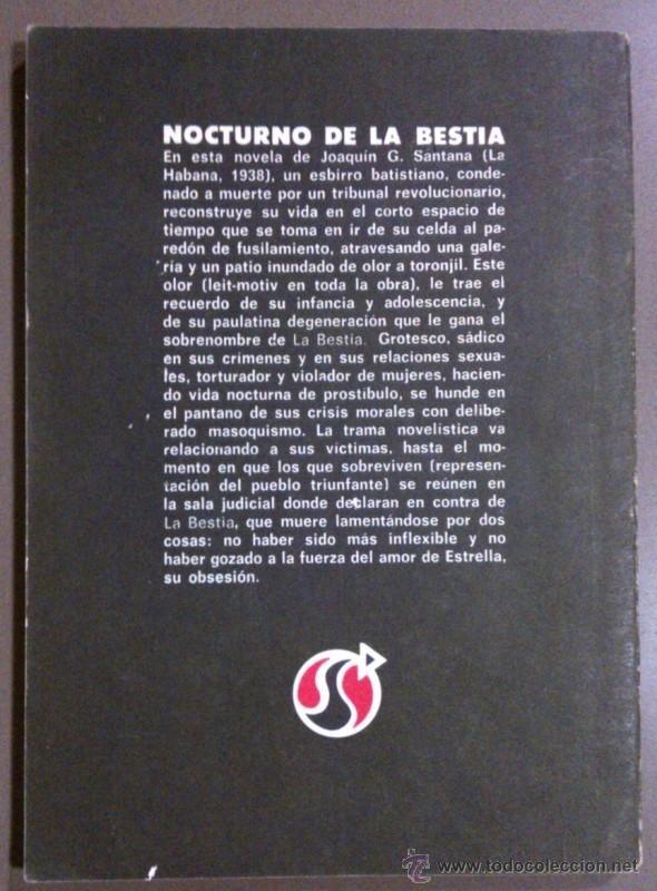 Libros de segunda mano: Nocturno de la Bestia. Joaquín G. Santana. Letras Cubanas. 1980. Firmado y dedicado por el autor! - Foto 2 - 41514177