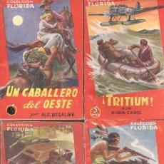 Libros de segunda mano: COLECCION FLORIDA AÑOS 50 ,9 NOVELAS, - PEDRO GAGO,A.ROLCEST, ALF REGALDIE,ROBIN CAROL,DICK O'BRIEN. Lote 41561241