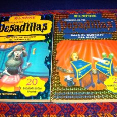 Libros de segunda mano: EN BUSCA DE TUS PESADILLAS NºS 7 Y 15. R.L. STINE. CON 20 FINALES. ED. B 1998. MBE. DIFÍCILES!!!. Lote 42282445