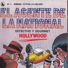 Libri di seconda mano: EL AGENTE DE LA NATIONAL DETECTIVE Y GOURMET HOLLYWOOD Nº 9 BRUGUERA. Lote 42374785