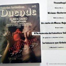 Libros de segunda mano: DUENDE Nº 5 HISTORIAS FANTÁSTICAS - RELATOS DE TERROR - RUBÉN DARÍO THANATHOPIA - BRAM STOKER LIBRO. Lote 43901213