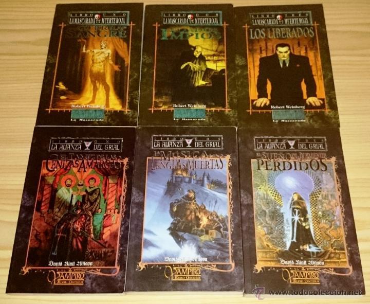 Libros de segunda mano: Colección completa de novelas Vampiro la Mascarada - Mundo de Tinieblas - 84 Libros - Foto 2 - 44620711