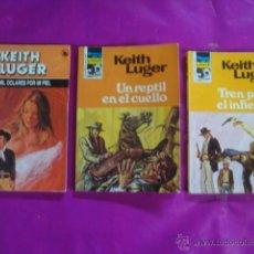 Libros de segunda mano: KEITH LUGER - UN REPTIL EN EL CUELLO - HEROES DE LA PRADERA 450 - 1965/1978 - IMPECABLE. Lote 44673557
