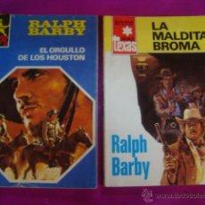 Libros de segunda mano: LOTE 2 OESTE RALPH BARBY - SALVAJE TEXAS 1264 / 1159 - MALDITA BROMA - ORGULLO DE LOS HOUSTON. Lote 44849752