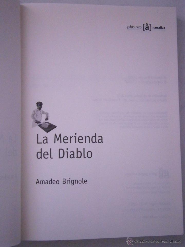 Libros de segunda mano: La merienda del diablo Brignole Amadeo Grand Guignol 2007 - Foto 6 - 46600873