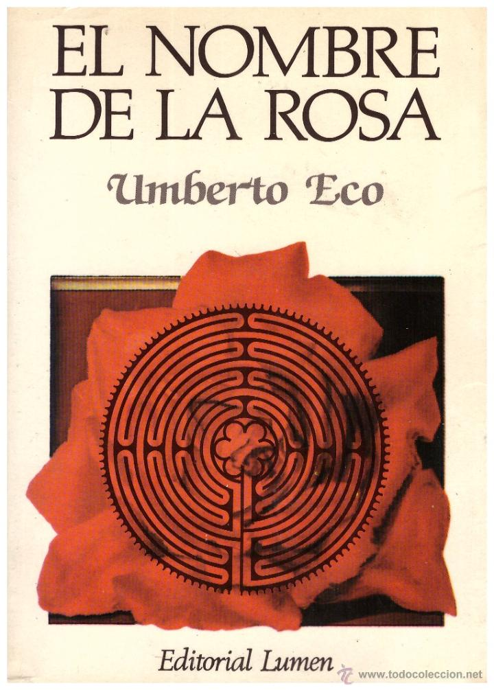 Resultado de imagen de El nombre de la rosa, Umberto Eco