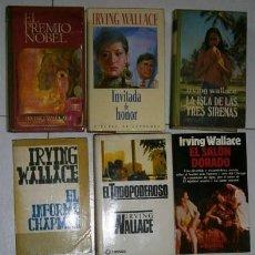 Libros de segunda mano: LOTE DE 11 NOVELAS DIFERENTES POR IRVING WALLACE (VER TÍTULOS Y CARACTERÍSTICAS EN LA DESCRIPCIÓN). Lote 26321904