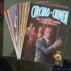 Libros de segunda mano: LOTE 12 NOVELAS CIRCULO DEL CRIMEN. FORUM.. Lote 48368473