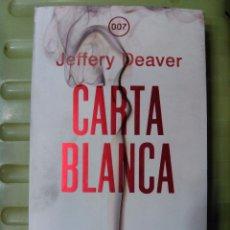 Libros de segunda mano: CARTA BLANCA -LA NUEVA NOVELA DE JAMES BOND- EDITORIAL UMBRIEL. Lote 50599749