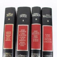 Libros de segunda mano: L-108. GRANDES MAESTROS DEL CRIMEN Y MISTERIO. EDGAR WALLACE, G. SIMENON, CONAN DOYLE Y R. STOUT.. Lote 52653443