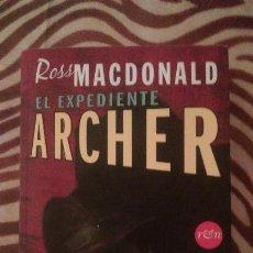Livros em segunda mão: EL EXPEDIENTE ARCHER ROSS MACDONALD. Lote 53128346