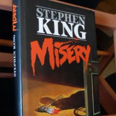 Libros de segunda mano: MISERY - STEPHEN KING (TAPA DURA CON SOBRECUBIERTA, PRIMERA EDICIÓN). Lote 53195841